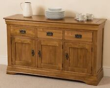 French Rustic Solid Oak Large Side Board Cabinet Unit Dining Room Furniture 83 H
