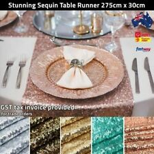 Sequin Table Runners 275cm Long Table Cloth Party Wedding Event Home Decoration