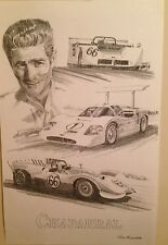 Chaparral - Jim Hall & His Great Car's. Car Poster.