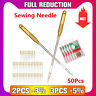 50Pcs Home Sewing Machine Needle Regular Ball Point Size 90/14 No.14 For