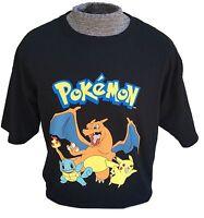 Pokemon Go T-shirt Starter Shirt Pikachu Charizard Squirtle Tee Top Black S M L