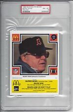1985 McDonald's Bears YELLOW - Buddy RYAN - PSA 8++ RARE