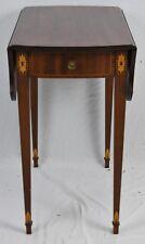 KITTINGER Pembroke Inlaid Mahogany Table Williamsburg Federal Style