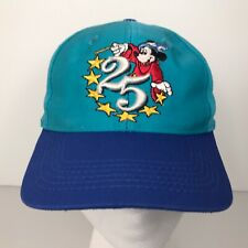 Vintage 1996 Disney World 25th Anniversary Mickey Mouse Sorcerer YOUTH Cap Hat