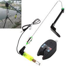 Waterproof Bite Sound Alarms + LED Indicators Fishing Hanger Swinger Illuminated
