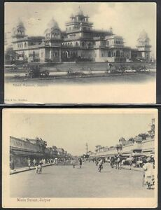 INDIA 1906 FOUR VINTAGE POST CARDS FRANKED KING EDWARD ISSUES ALL FROM JAIPUR
