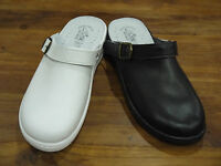 Mens Leather Manmade Nurse Hospital Kitchen Back Strap Mule Clog Made In Italy