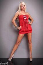 ROBE ROUGE GRENAT AJUSTABLE EN LONGUEUR SEXY DRESS LINGERIE DISCO 38 40