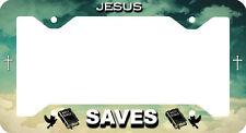 CAR LICENSE PLATE FRAME JESUS SAVES