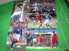 Everton 10 x Different Signed Press Quality Photos Baines Fellaini Jelavic etc