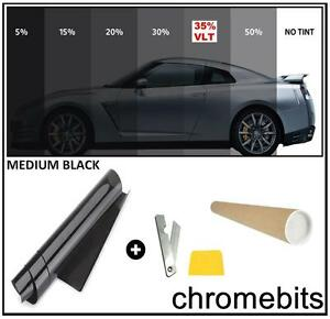 BLACK WINDOW TINT FILM AUTO CAR OFFICE TINTING KIT MEDIUM 35% 50X300CM