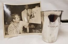 Original Signed Perry Como Photo and Engraved Cocktail Mixer Gifts to Nickolas