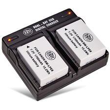 BM 2X LP-E8 Battery & Dual Charger for Canon T2i T3i T4i T5i 550D 600D 650D 700D