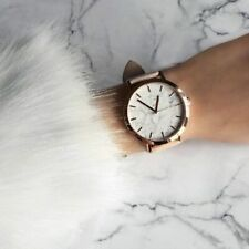 Watch Marble Women Quartz Steel Analog Band Leather Strap S Wrist Casual Dial