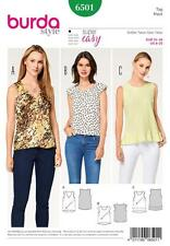 BURDA SEWING PATTERN MISSES' TOPS CUT ON THE BIAS SIZE 8 - 20 6501
