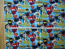 fabric Wonder Woman Super Girl Bat Girl  DC Comics  1 yard