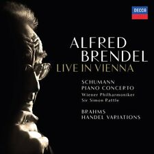 LIVE IN VIENNA - BRENDEL/WP/RATTLE   CD NEUF SCHUMANN/BRAHMS