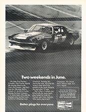 1973 Chevrolet Camaro Race Champion Original Advertisement Print Car Ad J534