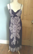 Stunning blue polyester maxi dress by Elissa  size 10