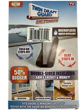 Twin Draft Guard Ultimate As Seen On TV Water Repellent Microfleece Open BOX