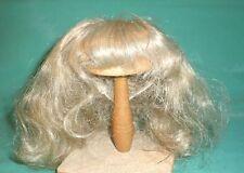"""Peluca de muñeca 8"""" a 8.5"""" de largo cabello rubio/Especo/1940/50s/Vintage"""