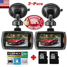 2Pack Full HD 1080P Car Dash DVR Camera Video Recorder Cam Night Vision G-Sensor