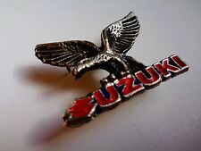 Vintage Suzuki Motorcycle Pin Classic Factory Biker Jacket Dealership Vest Badge