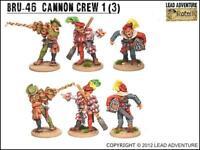 Lead Adventures Bruegelburg 28mm  Cannon Crew #1 Pack New