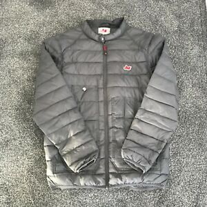 PEACEFUL HOOLIGAN GREY JACKET MEN'S QUILTED STYLE USED SIZE L