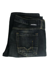 Diesel Men's Jeans Cardiel Distressed Denim Navy Blue Size 36 Made In Italy