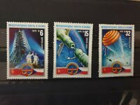 Russia USSR 1978  Soviet-Czech Space Flight. 3 STAMP SET MNH