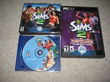 The Sims 2 EA Games 4 Discs + Pets disc #2 Nightlife disc #2    PC-CD