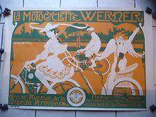 affiche poster la MOTOCYCLETTE WERNER art nouveau d'Auguste Jean B. ROUBILLE