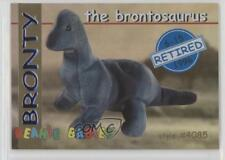 1998 Ty Beanie Babies Series 1 Retired Chase Blue Bronty the Brontosaurus 0c6