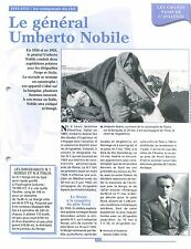 Général Umberto Nobile Airship Dirigeable N.1 Norge Maybach Italia FRANCE FICHE