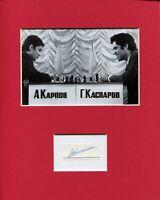 Anatoly Karpov World Chess Champion Signed Autograph Display W/ Garry Kasparov