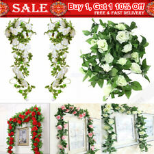 4/12X Artifical Fake Flowers Ivy Vine Hanging Garland Plant Wedding Party Decor