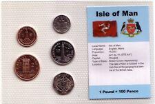 Isola di Man set 5 monete FDC in pak