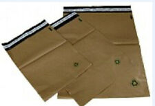 Biodegradable Poly Bag Mailer 100 #1 7.5 x10.5 Brown Unlined Self Seal Envelope