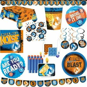 Nerf Party Decoration Kid's Birthday Party Items Birthday Darts Party Boys Set