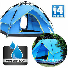Polyester Double Skin Camping Tents 4 Sleeping Areas
