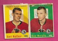 1959-60 TOPPS HAWKS EARL BALFOUR + RON MURPHY  FAIR CARD (INV# C6008)