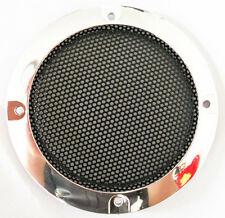 """2pcs 3"""" Inch Silver Circle Speaker Decorative Circle with Protective Grille DIY"""