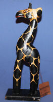 Hand Carving Painted Giraffe Statuette