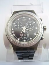 SWATCH WATCH SVCM4009AG FULL BLOODIED STONEHEART SILVER CHRONOGRAPH IRONY BNWT