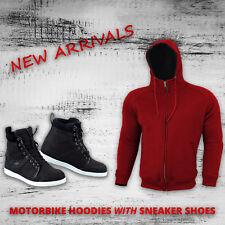 Motorcycle Motorbike Hoodie Boots Waterproof Fleece Hoody Leather Boot CE Armor