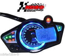 Compteur KOSO RX1N Universel pr scooter booster quad enduro moto Noir