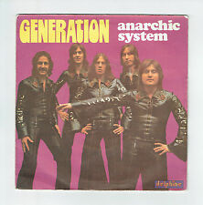 ANARCHIC SYSTEM Vinyl 45 tours GENERATION - WISH TO KNOW WHY - DELPHINE 64016