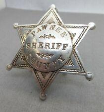 Vintage Obsolete Pawnee County Oklahoma Sheriff Badge Obsolete no Longer Used