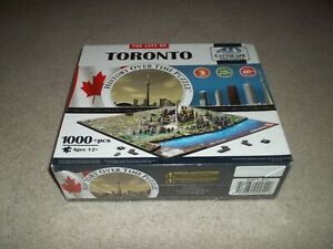 New Sealed Rare 4D Cityscape Time Puzzle Toronto 1000 pc History Over Time 40016